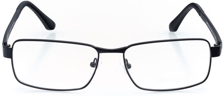fira: men's rectangle eyeglasses in black - front view