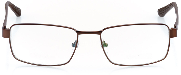 fira: men's rectangle eyeglasses in brown - front view