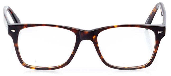 catania: men's square eyeglasses in tortoise - front view