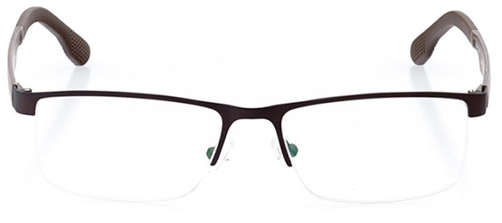 soho: men's rectangle eyeglasses in brown - front view