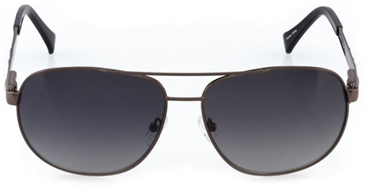 santa clara: men's rectangle sunglasses in gray - front view