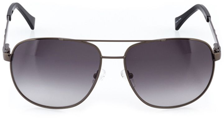 santa clara: men's rectangle sunglasses in gray - front view