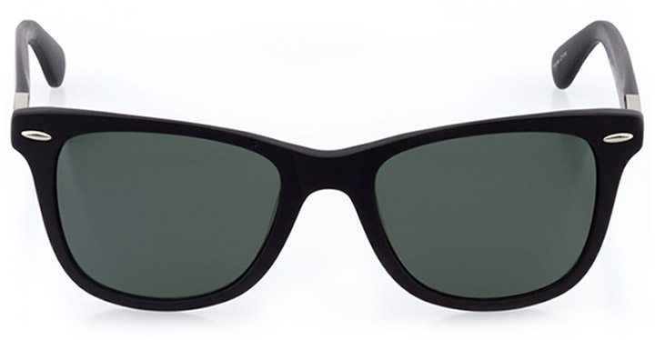 wallisellen: unisex square sunglasses in black - front view