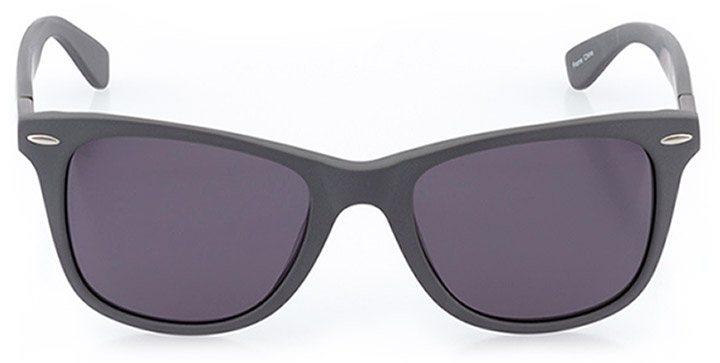 wallisellen: unisex square sunglasses in gray - front view