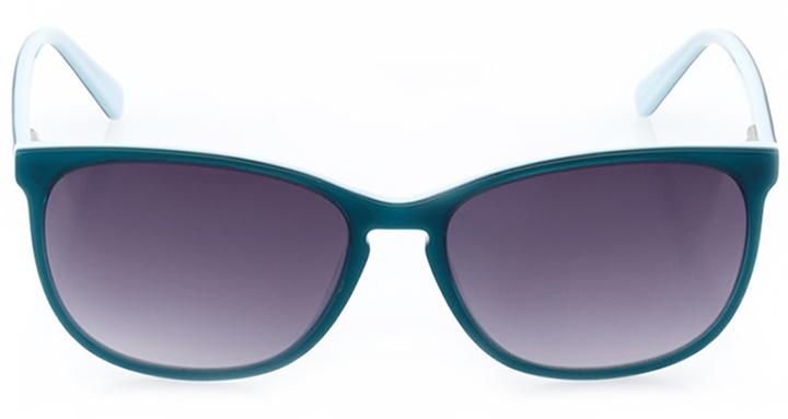 la chaux-de-fonds: women's square sunglasses in blue - front view