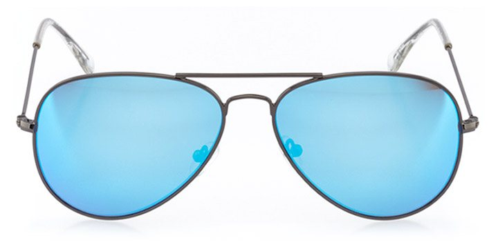 horgen: unisex aviator sunglasses in blue - front view