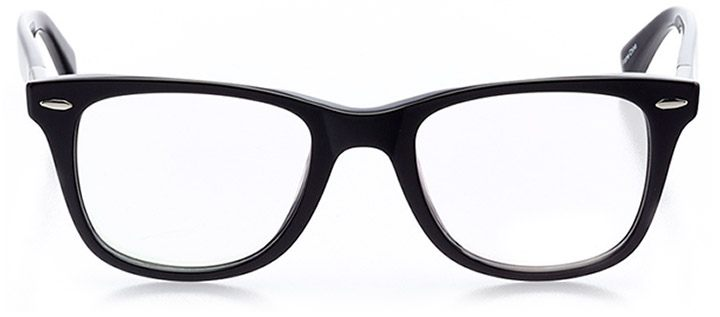 riehen: unisex square eyeglasses in black - front view