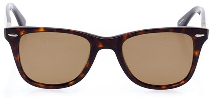 locarno: unisex square sunglasses in tortoise - front view