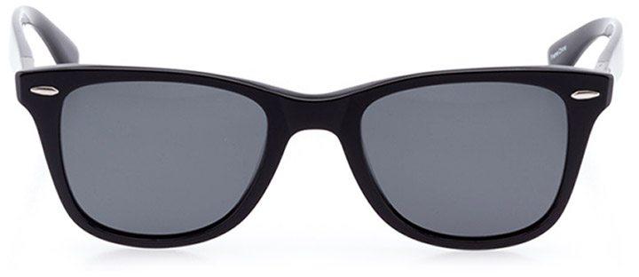 locarno: unisex square sunglasses in black - front view