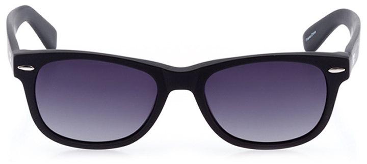 neuhausen: unisex square sunglasses in black - front view