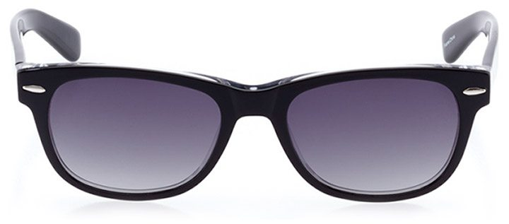 neuhausen: unisex square sunglasses in crystal - front view