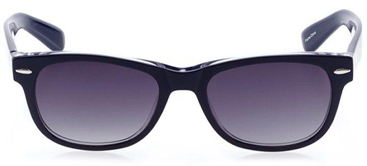 neuhausen: unisex square sunglasses in blue - front view