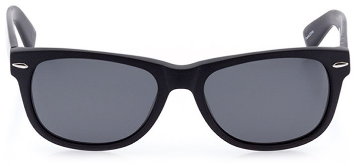 ebikon: unisex square sunglasses in black - front view