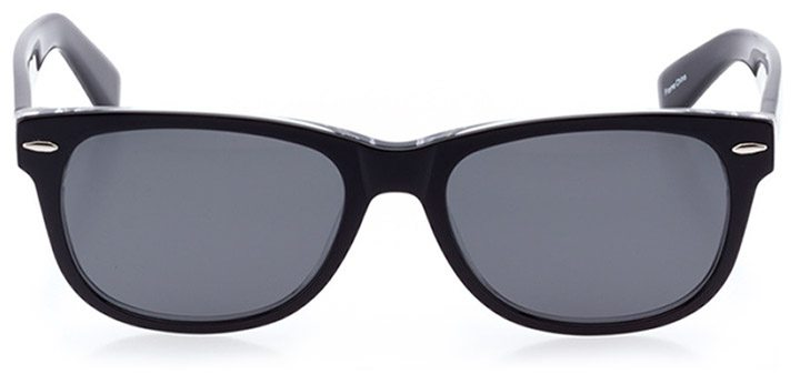 ebikon: unisex square sunglasses in crystal - front view
