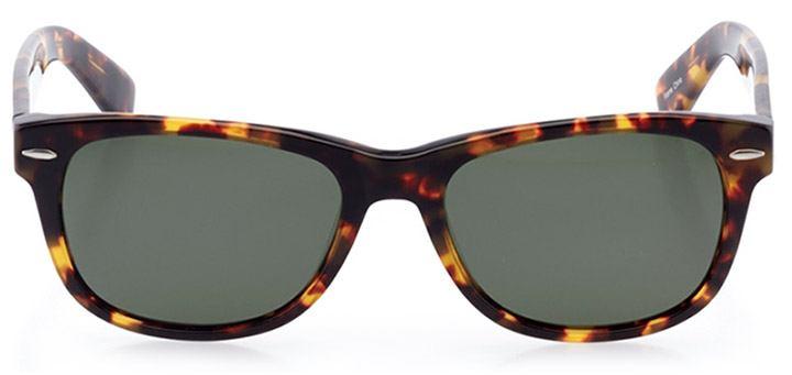 ebikon: unisex square sunglasses in tortoise - front view