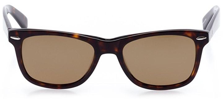 zermatt: unisex square sunglasses in tortoise - front view