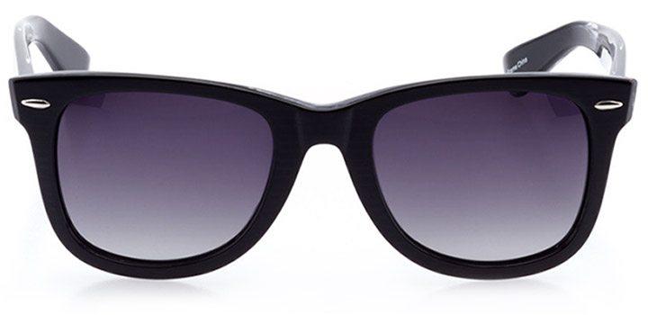 vitznau: unisex square sunglasses in black - front view