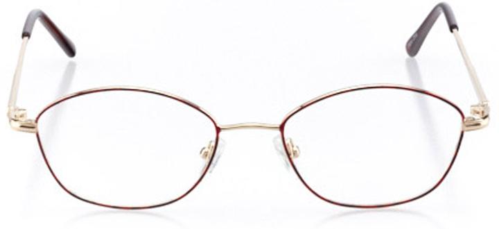 bar harbor: women's cat eye eyeglasses in red - front view
