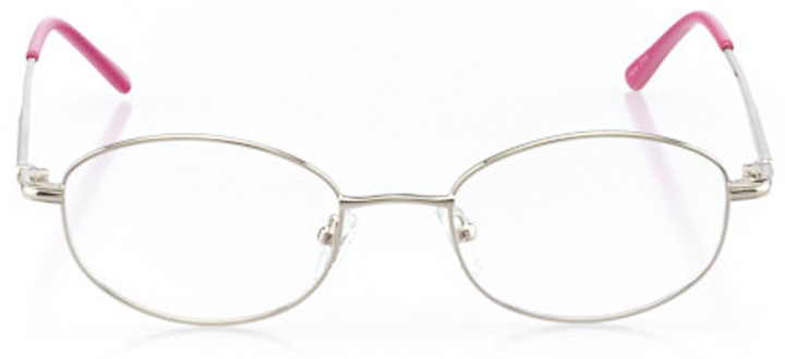 portsmouth: women's oval eyeglasses in pink - front view