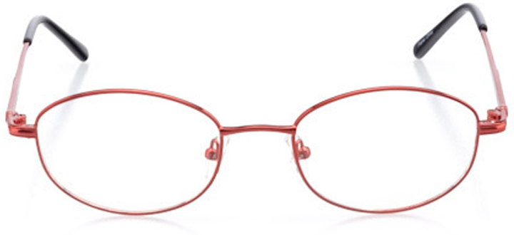 portsmouth: women's oval eyeglasses in red - front view