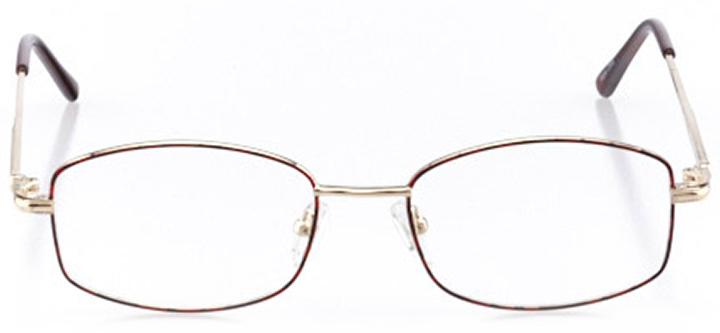 mesa: women's square eyeglasses in red - front view