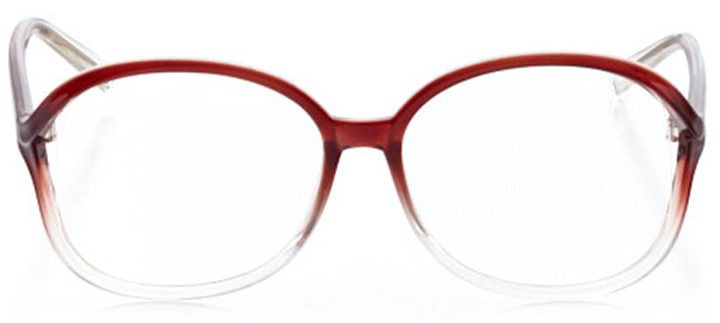 mystic: women's oval eyeglasses in brown - front view
