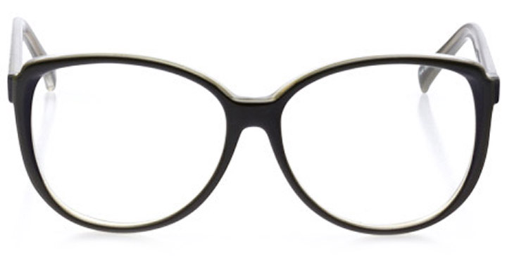wildwood: women's square eyeglasses in green - front view
