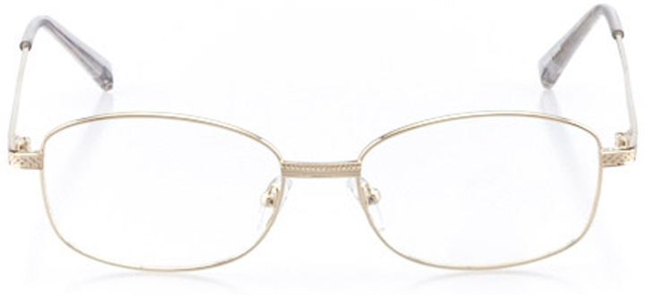 avalon: men's square eyeglasses in gold - front view
