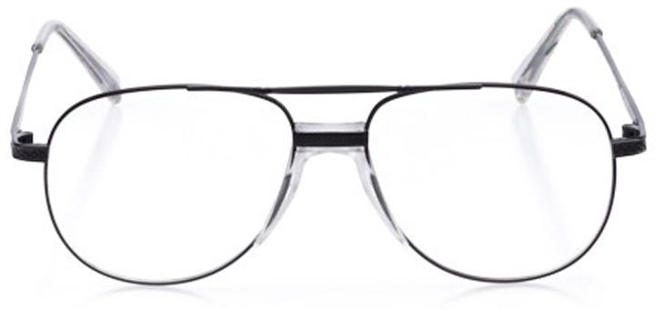 ketchum: men's aviator eyeglasses in black - front view