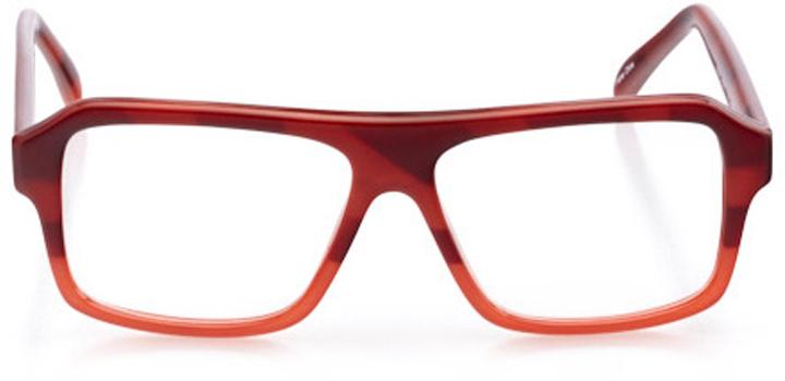 santa cruz: men's rectangle eyeglasses in orange - front view