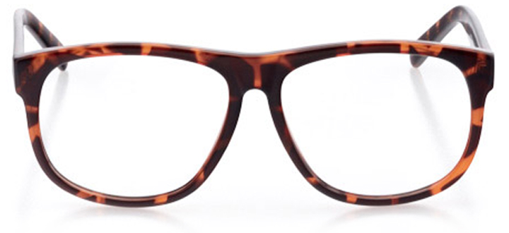 asheville: men's round eyeglasses in brown - front view