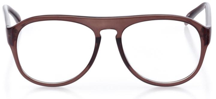 galveston: men's aviator eyeglasses in black - front view