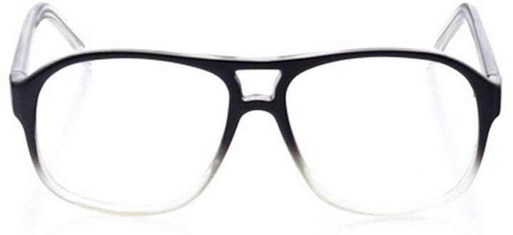 burlington: men's square eyeglasses in black - front view