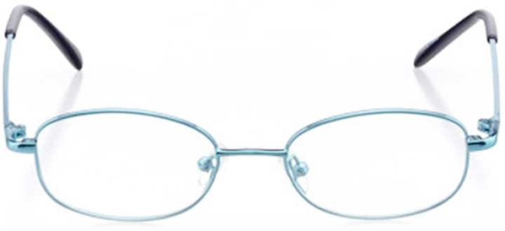 newberry: oval eyeglasses in blue - front view