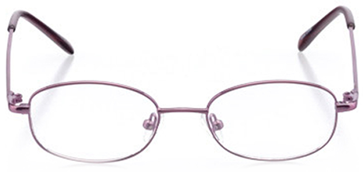 newberry: girls' oval eyeglasses in purple - front view