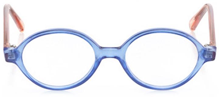 essex: girls' round eyeglasses in blue - front view