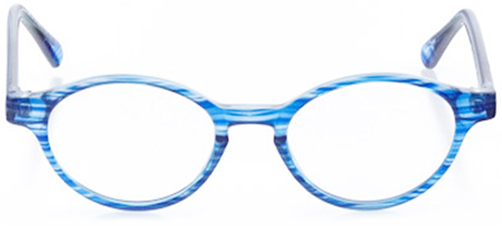 cumberland: oval eyeglasses in blue - front view