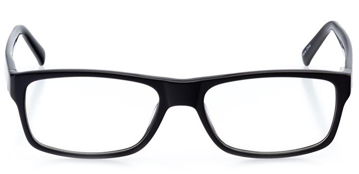 kansas city: men's rectangle eyeglasses in black - front view