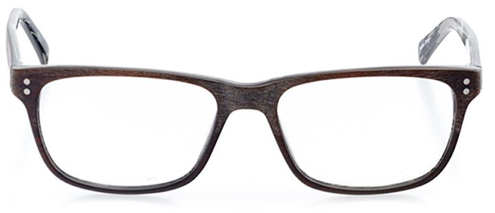 rockville: men's square eyeglasses in brown - front view
