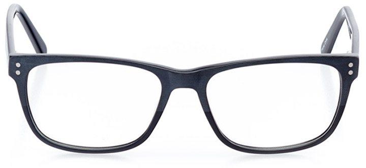 rockville: men's square eyeglasses in blue - front view
