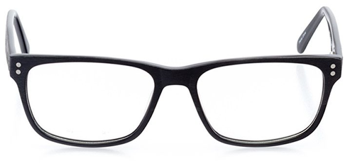 rockville: men's square eyeglasses in black - front view