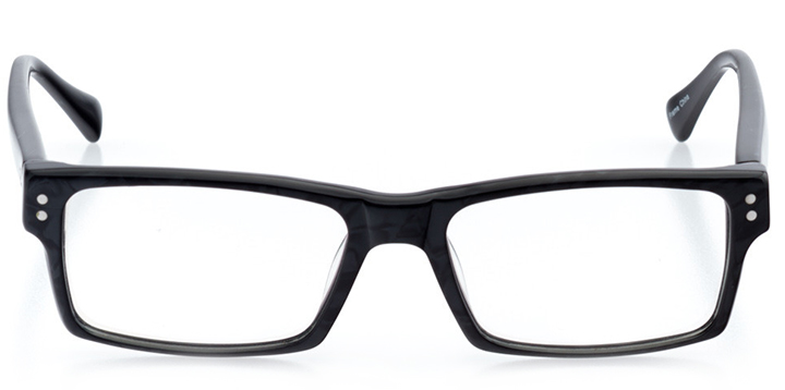 knoxville: men's rectangle eyeglasses in black - front view