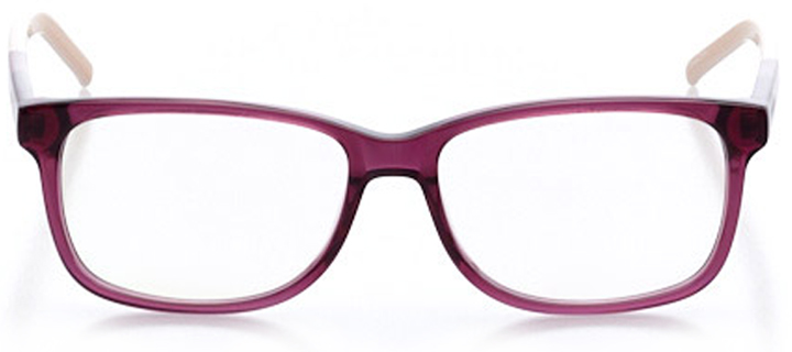 marseille: women's square eyeglasses in purple - front view
