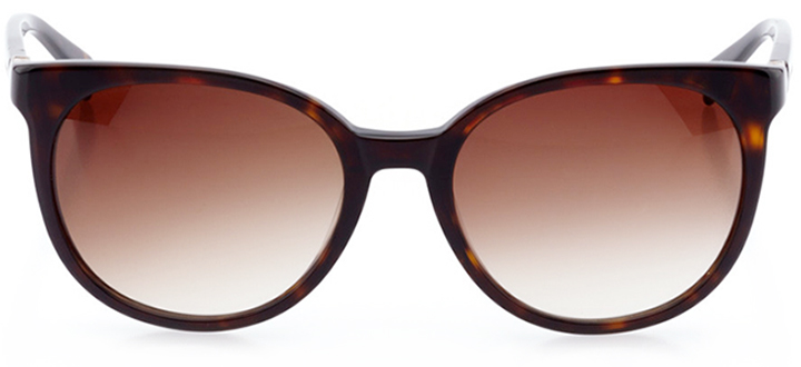 villeurbanne: women's round sunglasses in tortoise - front view