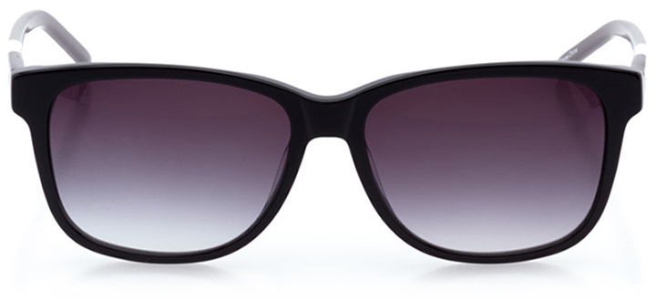 bridgeport: women's rectangle sunglasses in black - front view