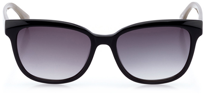 montreux-vevey: women's butterfly sunglasses in black - front view