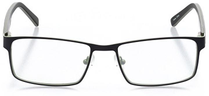 kent: men's rectangle eyeglasses in green - front view