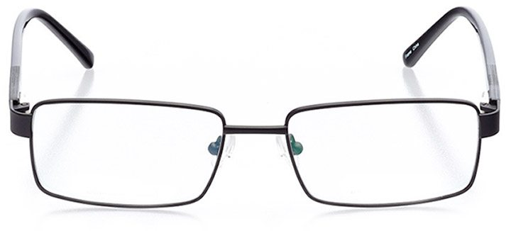 whitby: men's rectangle eyeglasses in black - front view