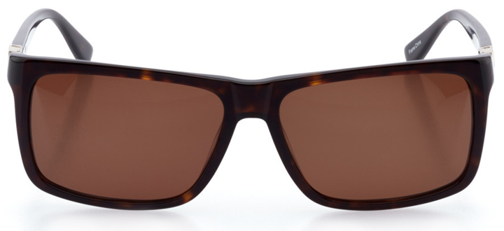 augusta: men's rectangle sunglasses in tortoise - front view