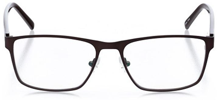 engelberg: men's square eyeglasses in brown - front view